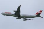 せぷてんばーさんが、成田国際空港で撮影したスイスインターナショナルエアラインズ A340-313Xの航空フォト(写真)