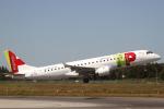 とらとらさんが、フランシスコ・デ・サカルネイロ空港で撮影したポルトガリア航空 ERJ-190-100 LR (ERJ-190LR)の航空フォト(写真)