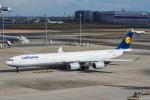 ぱん_くまさんが、羽田空港で撮影したルフトハンザドイツ航空 A340-642Xの航空フォト(写真)