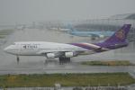 神宮寺ももさんが、関西国際空港で撮影したタイ国際航空 747-4D7の航空フォト(写真)