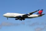 prado120さんが、成田国際空港で撮影したデルタ航空 747-451の航空フォト(写真)