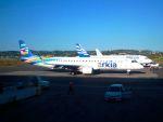 まいけるさんが、コルフ・イオアニス・カポディストリアス空港で撮影したアルキア・イスラエル・エアラインズ ERJ-190-200 IGW (ERJ-195AR)の航空フォト(写真)