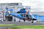 はるかのパパさんが、東京ヘリポートで撮影した警視庁 EC155B1の航空フォト(写真)