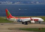 タミーさんが、関西国際空港で撮影したティーウェイ航空 737-8HXの航空フォト(写真)