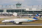 安芸あすかさんが、ミュンヘン・フランツヨーゼフシュトラウス空港で撮影したアルキア・イスラエル・エアラインズ ERJ-190-200 IGW (ERJ-195AR)の航空フォト(写真)