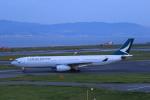 みるぽんたさんが、関西国際空港で撮影したキャセイパシフィック航空 A330-343Xの航空フォト(写真)