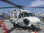 いっとくさんが、大阪港 桜島岸壁で撮影した海上自衛隊 SH-60Jの航空フォト(写真)