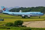 あしゅーさんが、福岡空港で撮影した大韓航空 747-4B5の航空フォト(写真)