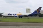 マリオ先輩さんが、横田基地で撮影したアトラス航空 747-481(BCF)の航空フォト(写真)