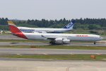 みるぽんたさんが、成田国際空港で撮影したイベリア航空 A340-642の航空フォト(写真)