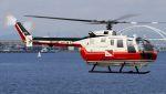 航空見聞録さんが、舞洲ヘリポートで撮影した読売新聞 Bo 105Sの航空フォト(写真)