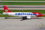 PASSENGERさんが、チューリッヒ空港で撮影したエーデルワイス航空 A320-214の航空フォト(写真)