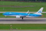PASSENGERさんが、チューリッヒ空港で撮影したKLMオランダ航空 737-8K2の航空フォト(写真)