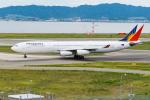 きゅうさんが、関西国際空港で撮影したフィリピン航空 A340-313Xの航空フォト(写真)