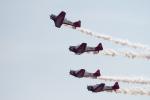 チャッピー・シミズさんが、アボッツフォード国際空港で撮影したAeroShell Formation Team T-6 Texanの航空フォト(写真)