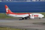 キイロイトリ1005fさんが、関西国際空港で撮影したティーウェイ航空 737-8KNの航空フォト(写真)
