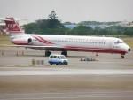 東亜国内航空さんが、台湾桃園国際空港で撮影した遠東航空 MD-83 (DC-9-83)の航空フォト(写真)