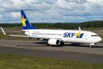 Kanryoさんが、新千歳空港で撮影したスカイマーク 737-8FZの航空フォト(写真)