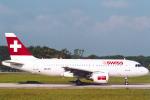 菊池 正人さんが、ジュネーヴ・コアントラン国際空港で撮影したスイスインターナショナルエアラインズ A319-112の航空フォト(写真)