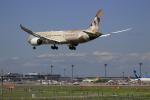 ☆ライダーさんが、成田国際空港で撮影したエティハド航空 787-9の航空フォト(写真)