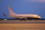 ロボキさんが、中部国際空港で撮影したアメリカ企業所有 737-7JR BBJの航空フォト(写真)
