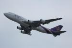 いっとくさんが、関西国際空港で撮影したタイ国際航空 747-4D7の航空フォト(写真)