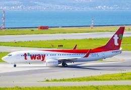 CB20さんが、関西国際空港で撮影したティーウェイ航空 737-8ASの航空フォト(写真)