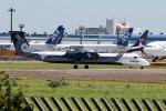 mkoさんが、成田国際空港で撮影したオーロラ DHC-8-402Q Dash 8の航空フォト(写真)