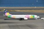 つねさんが、羽田空港で撮影したスカイネットアジア航空 737-4M0の航空フォト(写真)