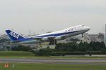 さっしんさんが、伊丹空港で撮影した全日空 747SR-81の航空フォト(写真)