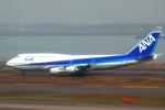 S64さんが、羽田空港で撮影した全日空 747-481(D)の航空フォト(写真)