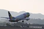 鹿児島のぽりっす♪さんが、鹿児島空港で撮影したソラシド エア 737-4M0の航空フォト(写真)