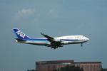 あにいさんが、成田国際空港で撮影した全日空 747-481の航空フォト(写真)