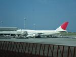 みきてぃさんが、那覇空港で撮影した日本航空 747-346の航空フォト(写真)