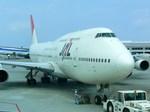 スカイマンタさんが、那覇空港で撮影した日本航空 747-346の航空フォト(写真)