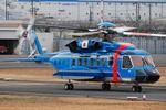 へりさんが、東京ヘリポートで撮影した三菱商事 S-92Aの航空フォト(写真)