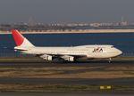 木人さんが、羽田空港で撮影した日本アジア航空 747-346の航空フォト(写真)