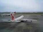 南の島からさんが、那覇空港で撮影したJALウェイズ 747-346の航空フォト(写真)