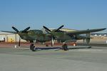 Scotchさんが、ファロン海軍航空ステーションで撮影した94th Fighter Squadron P-38F Lightningの航空フォト(写真)