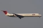 hiko_chunenさんが、羽田空港で撮影したJALエクスプレス MD-81 (DC-9-81)の航空フォト(写真)