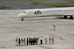 wing_oitさんが、北九州空港で撮影した日本航空 MD-81 (DC-9-81)の航空フォト(写真)