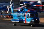 へりさんが、東京ヘリポートで撮影した警視庁 S-92Aの航空フォト(写真)