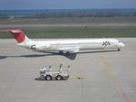 zakiさんが、新潟空港で撮影した日本航空 MD-81 (DC-9-81)の航空フォト(写真)