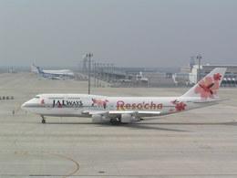 hachiさんが、中部国際空港で撮影したJALウェイズ 747-346の航空フォト(写真)