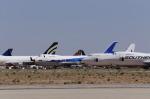 樹里さんが、モハーヴェ空港で撮影した全日空 747SR-81の航空フォト(写真)