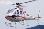 へりさんが、妙見山 山上駐車場で撮影した朝日航洋 AS350B3 Ecureuilの航空フォト(写真)