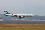 たろさんが、関西国際空港で撮影したキャセイパシフィック航空 747-467の航空フォト(写真)
