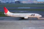 ふぁんとむ改さんが、福岡空港で撮影した日本トランスオーシャン航空 737-4Q3の航空フォト(写真)
