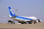 安芸あすかさんが、羽田空港で撮影した全日空 747SR-81の航空フォト(写真)