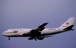 チャーリーマイクさんが、福岡空港で撮影した日本航空 747-338の航空フォト(写真)